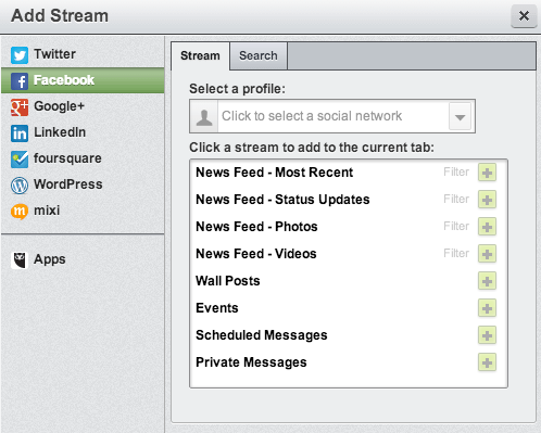 pulling facebook into hootsuite
