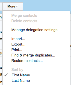 importing a csv file into Gmail contacts