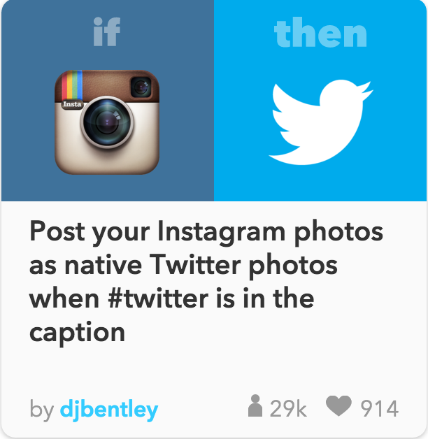 Post your instagram photos natively to twitter