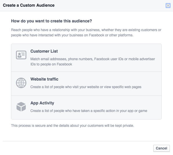 facebook ads manager customer audiences