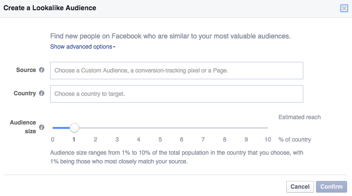 creating a lookalike audience in ads manager